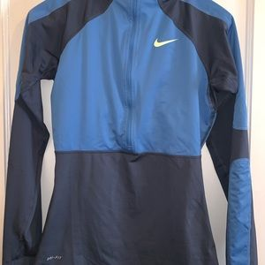 Nike Dri-fit quarter zip. Grey and blue, size S